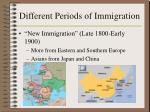different periods of immigration3