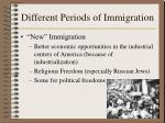 different periods of immigration4