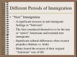 different periods of immigration5
