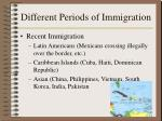 different periods of immigration7