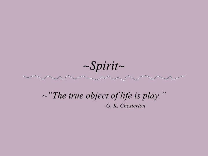 ~Spirit~