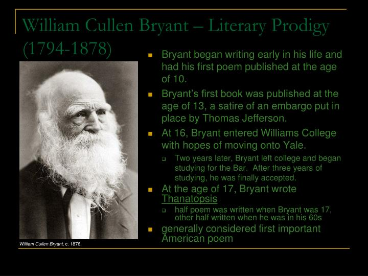 William Cullen Bryant – Literary Prodigy