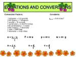 equations and conversions