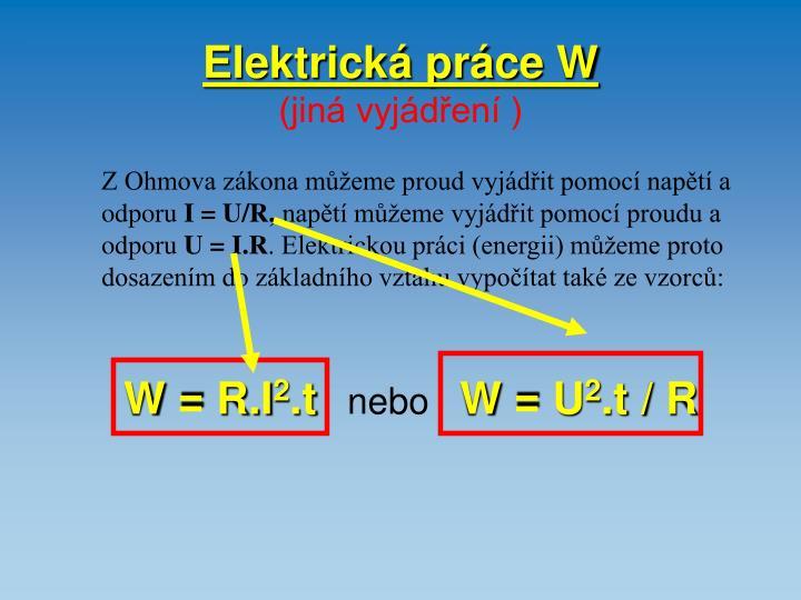 Elektrická práce W