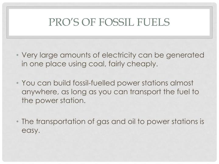 Very large amounts of electricity can be generated in one place using coal, fairly cheaply.