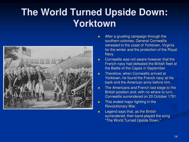 The World Turned Upside Down: Yorktown