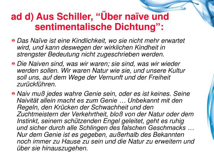 ad d) Aus Schiller,