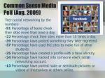 common sense media poll aug 2009