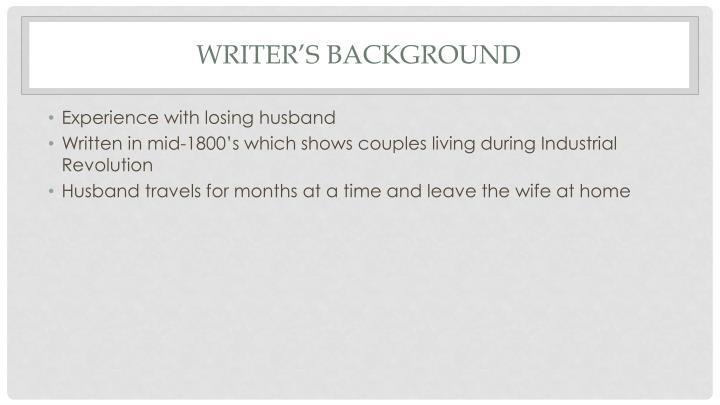 Writer's Background