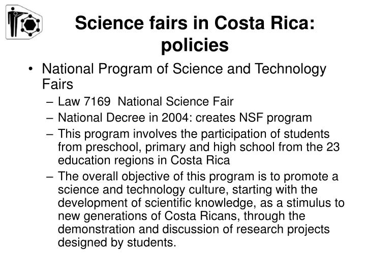 Science fairs in Costa Rica: policies
