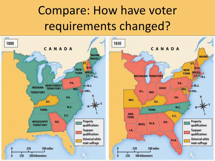 Compare: How have voter requirements changed?
