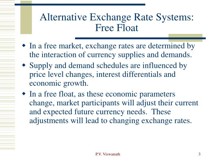 Alternative exchange rate systems free float