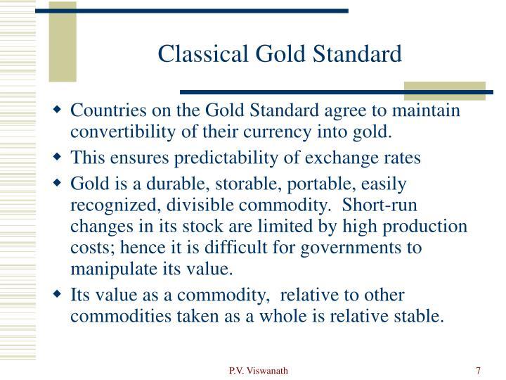 Classical Gold Standard