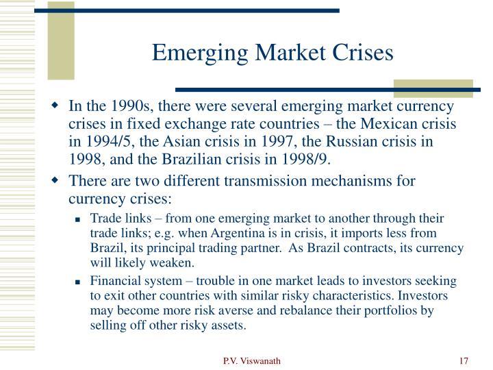 Emerging Market Crises