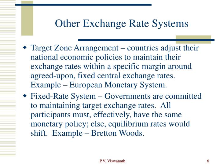Other Exchange Rate Systems