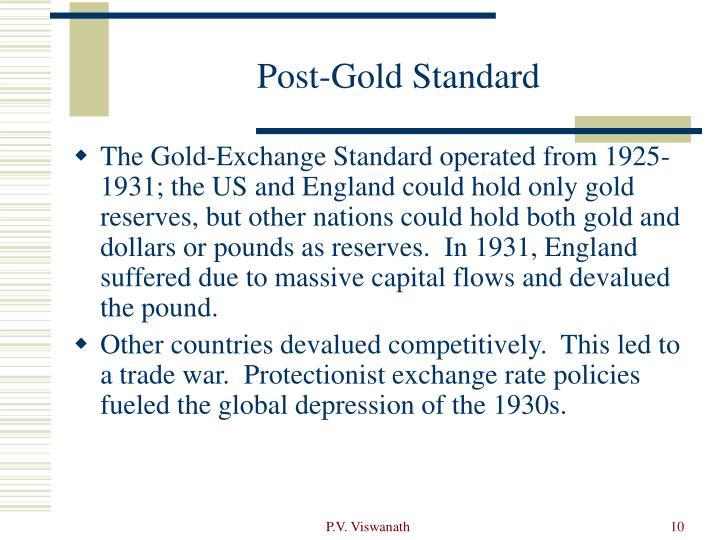 Post-Gold Standard
