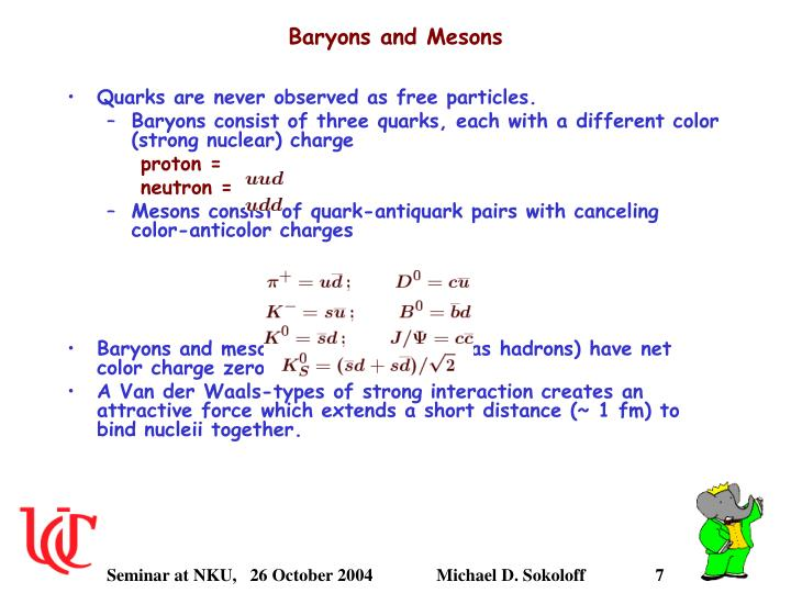 Baryons and Mesons