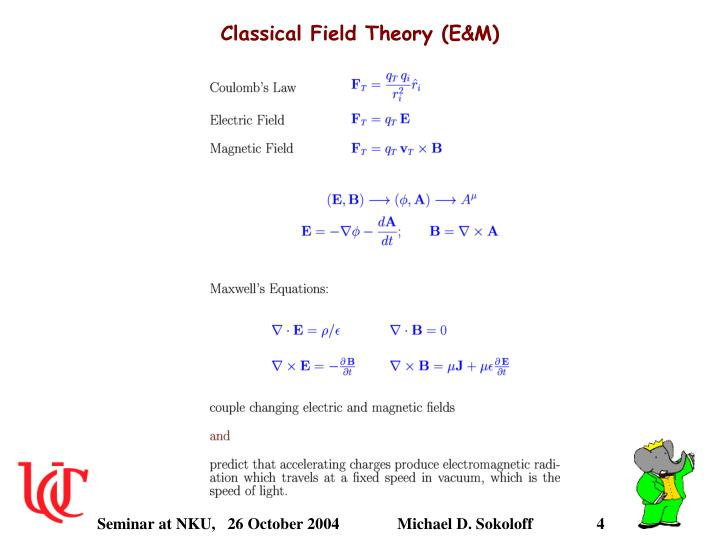 Classical Field Theory (E&M)