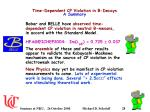 time dependent cp violation in b decays a summary