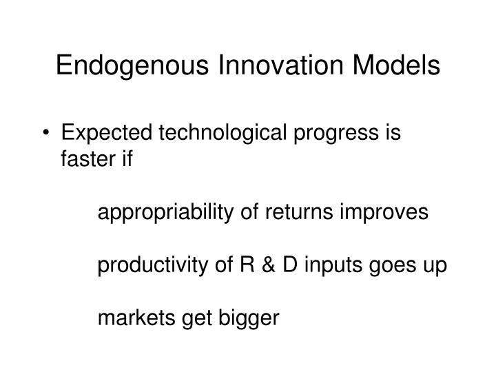 Endogenous Innovation Models