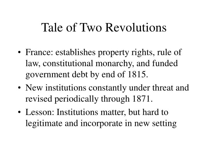 Tale of Two Revolutions