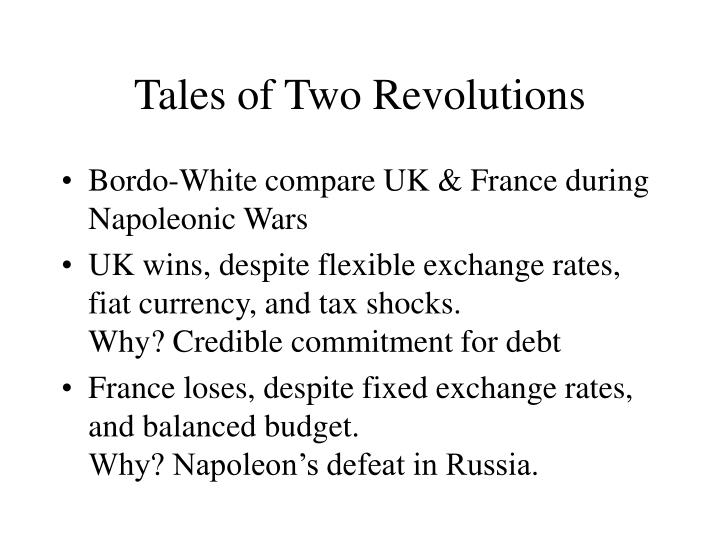 Tales of Two Revolutions