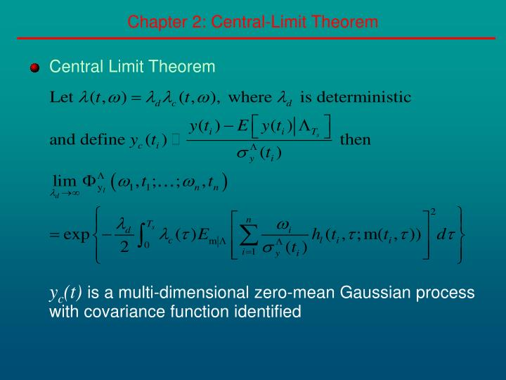 Chapter 2: Central-Limit Theorem