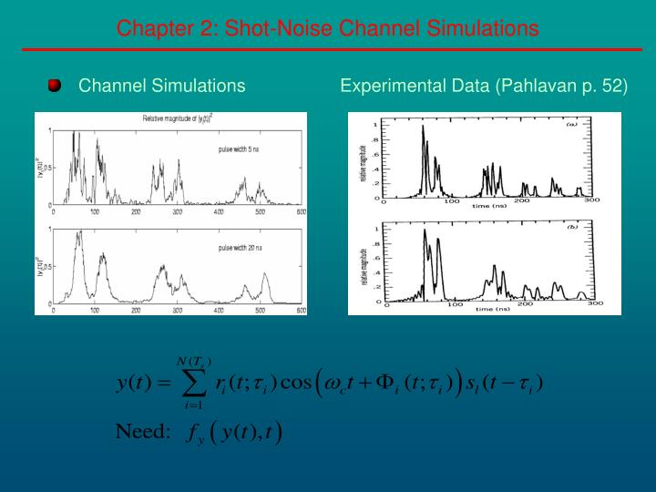 Chapter 2 shot noise channel simulations