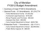 city of meridian fy2012 budget amendment5