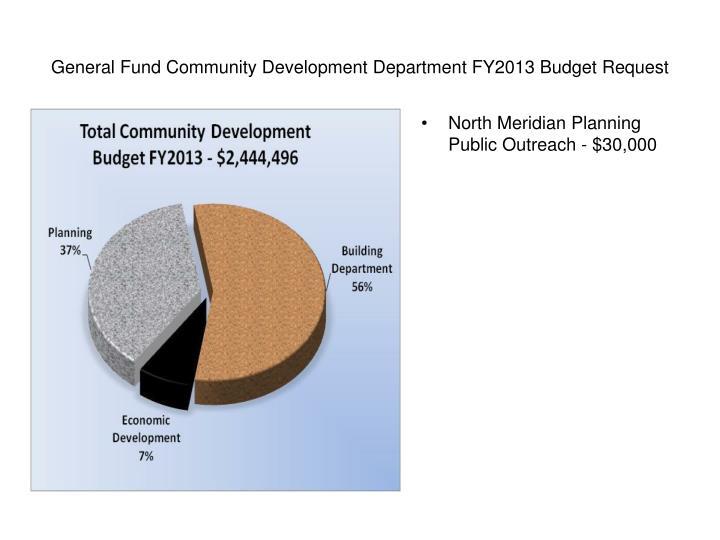 General Fund Community Development Department FY2013 Budget Request