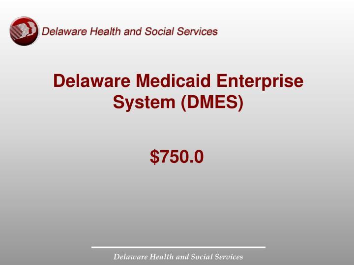 Delaware Medicaid Enterprise System (DMES)