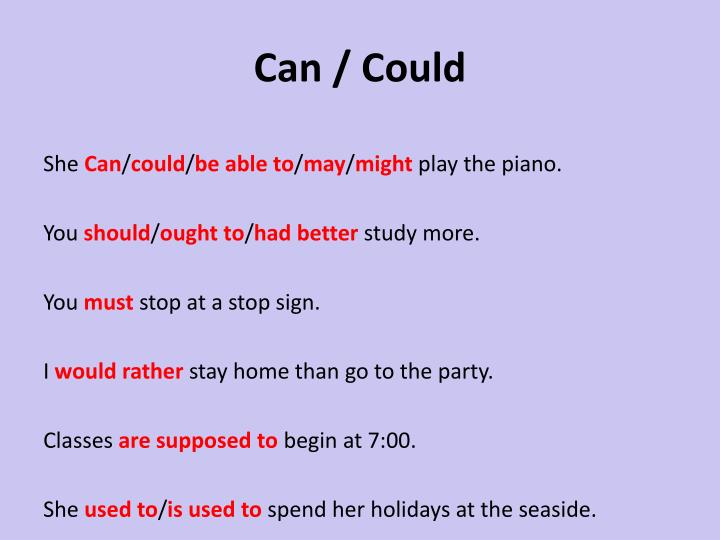 Can / Could