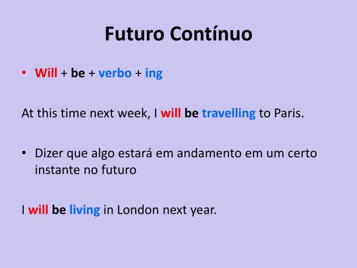 Futuro Contínuo