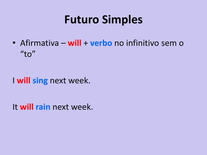 Futuro Simples