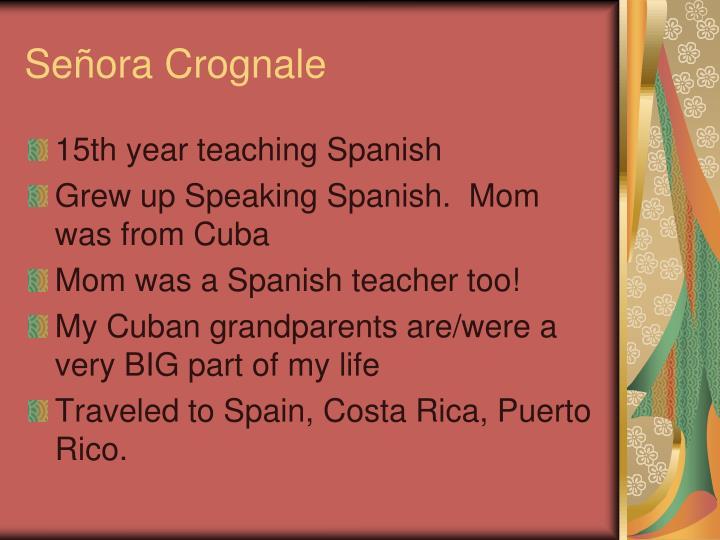 Señora Crognale