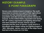 history example 5 point paragraph