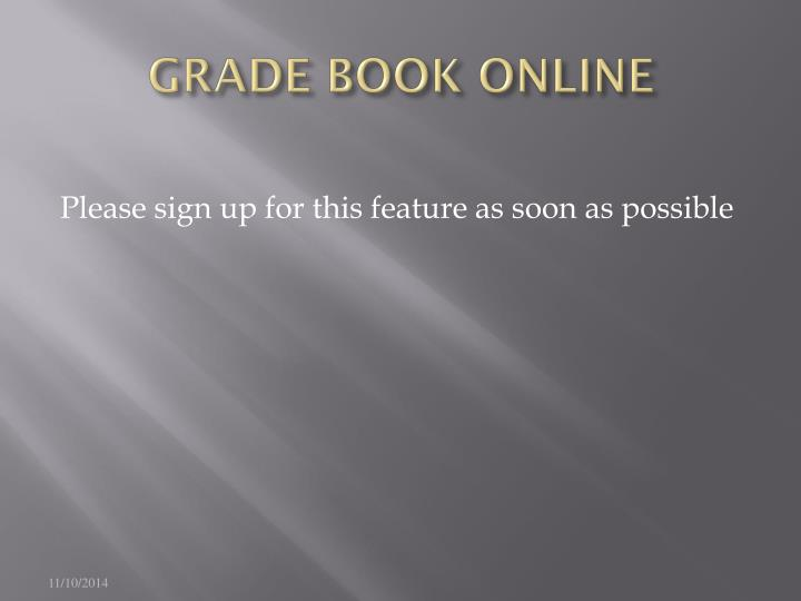 GRADE BOOK ONLINE