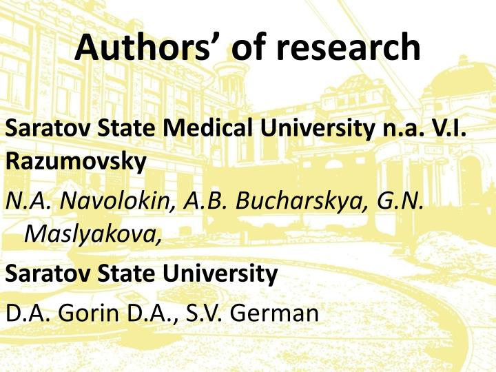 Authors of research