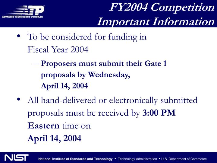 FY2004 Competition