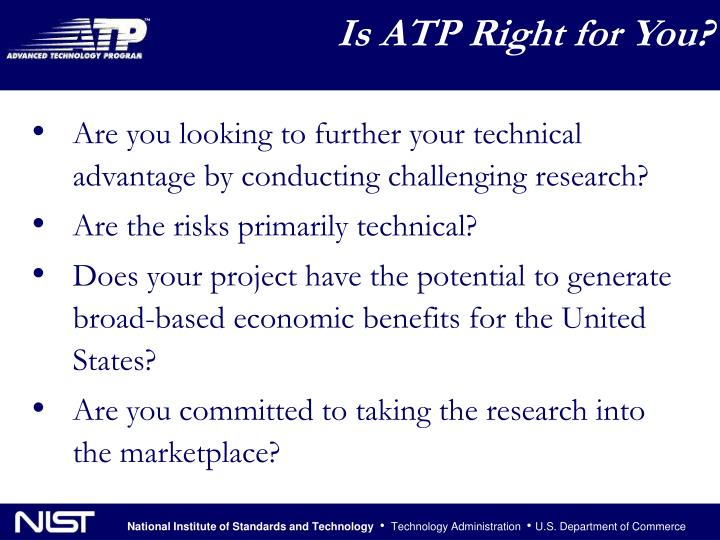 Is ATP Right for You?