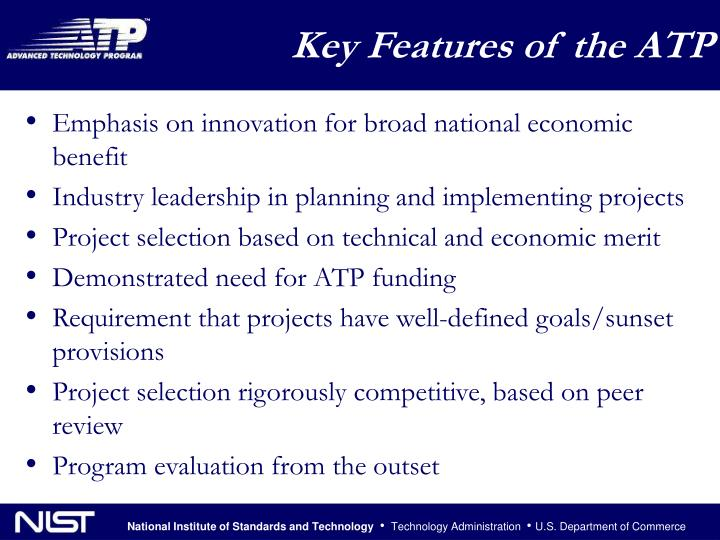 Key Features of the ATP