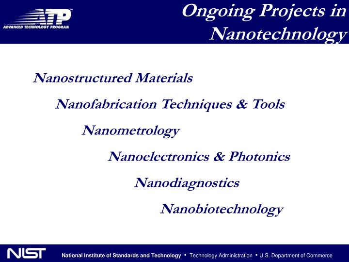 Ongoing Projects in Nanotechnology