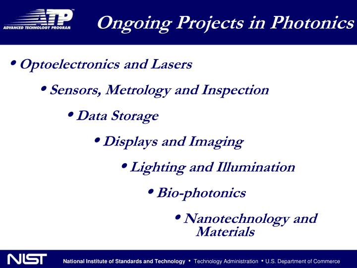 Ongoing Projects in Photonics