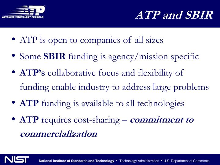 ATP is open to companies of all sizes