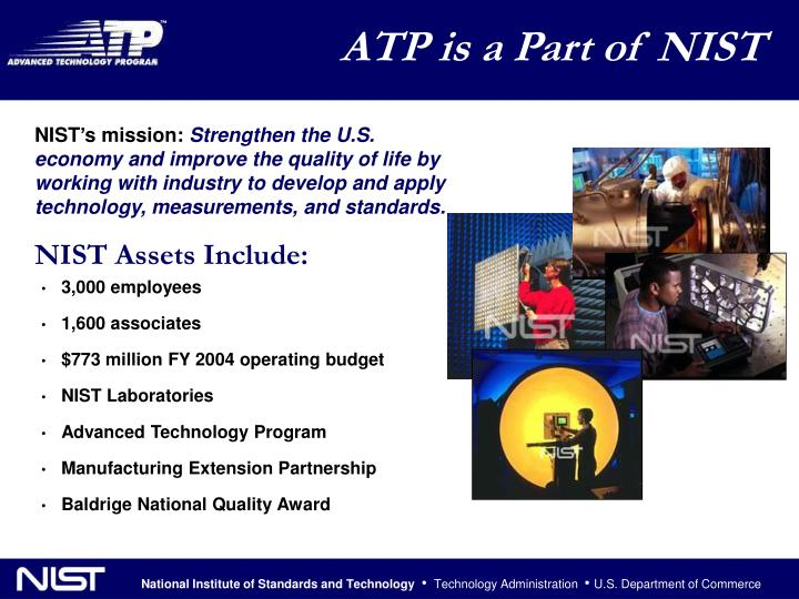 ATP is a Part of NIST