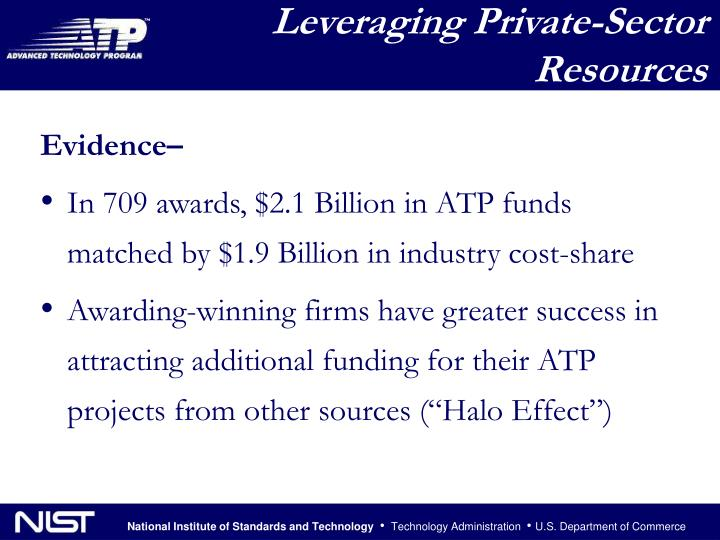 Leveraging Private-Sector Resources