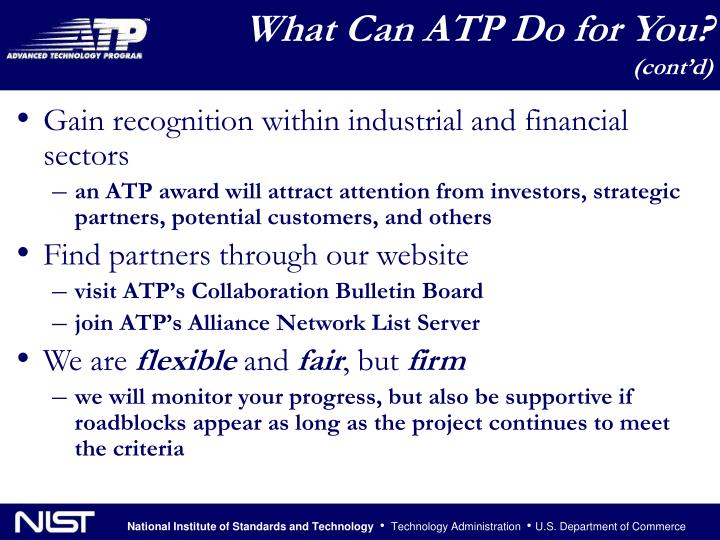 What Can ATP Do for You?