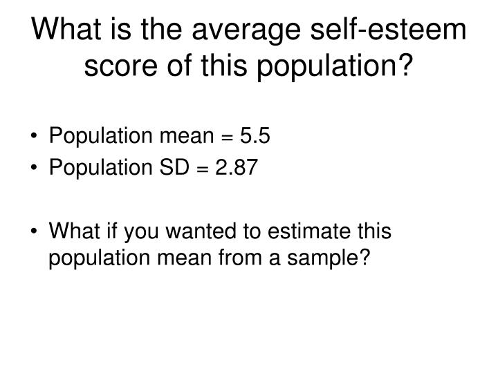 What is the average self-esteem score of this population?