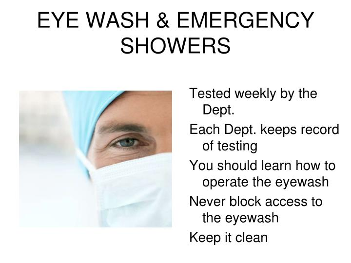 EYE WASH & EMERGENCY SHOWERS