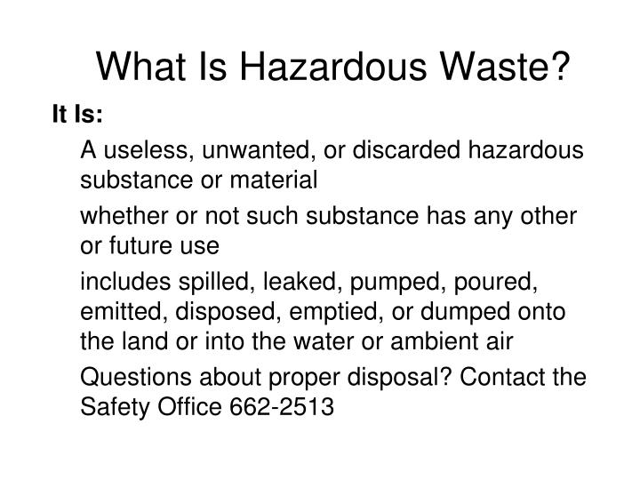 What Is Hazardous Waste?